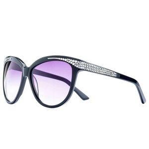 Jimmy Crystal | Black Cat Eye Crystal Sunglasses
